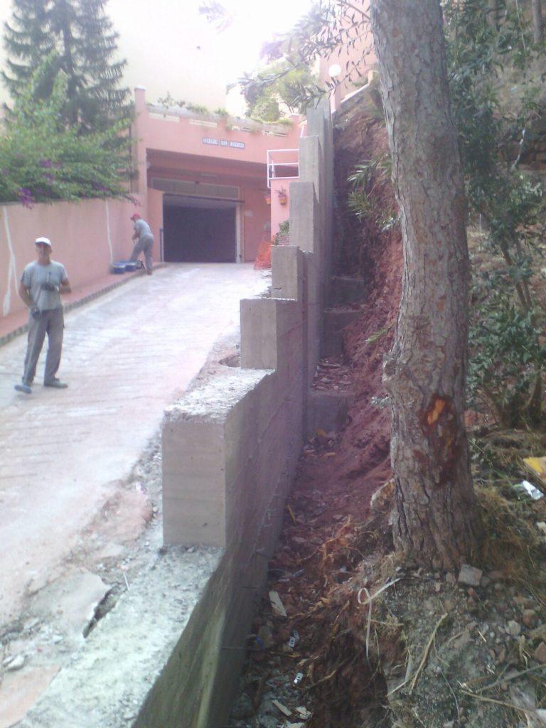 Construcción muro Málaga