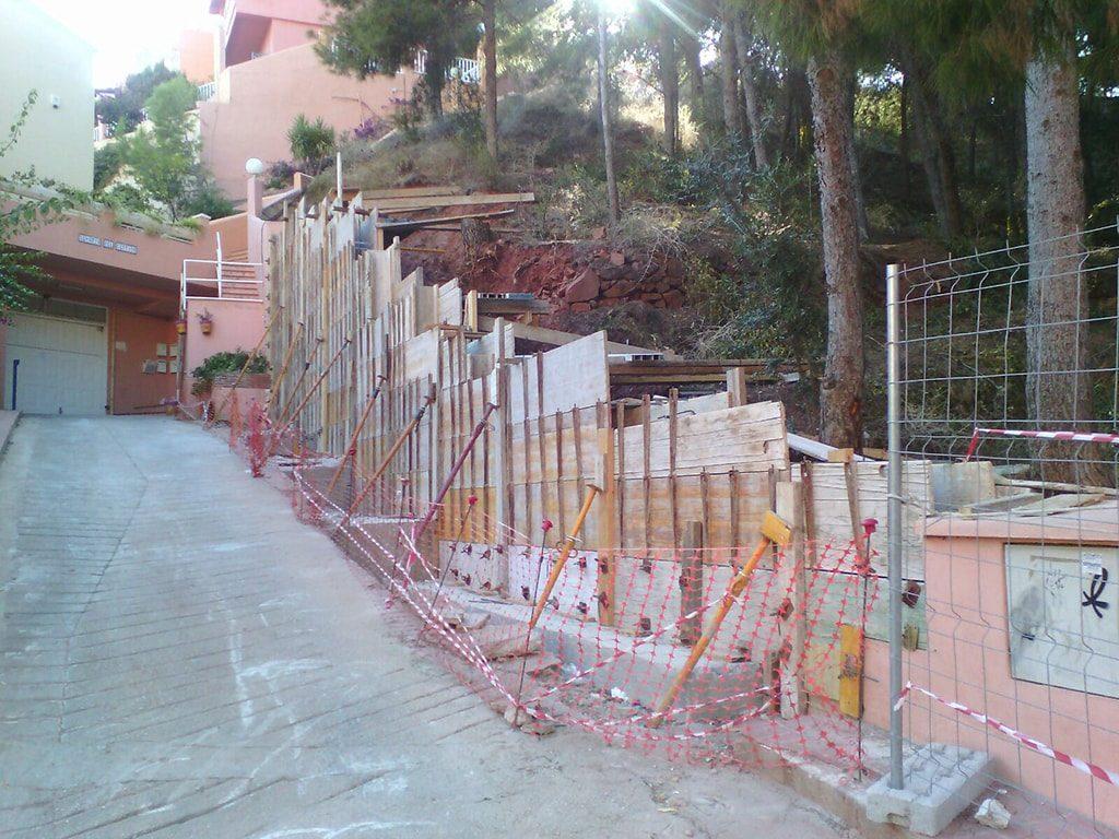 Levantamiento muro Málaga
