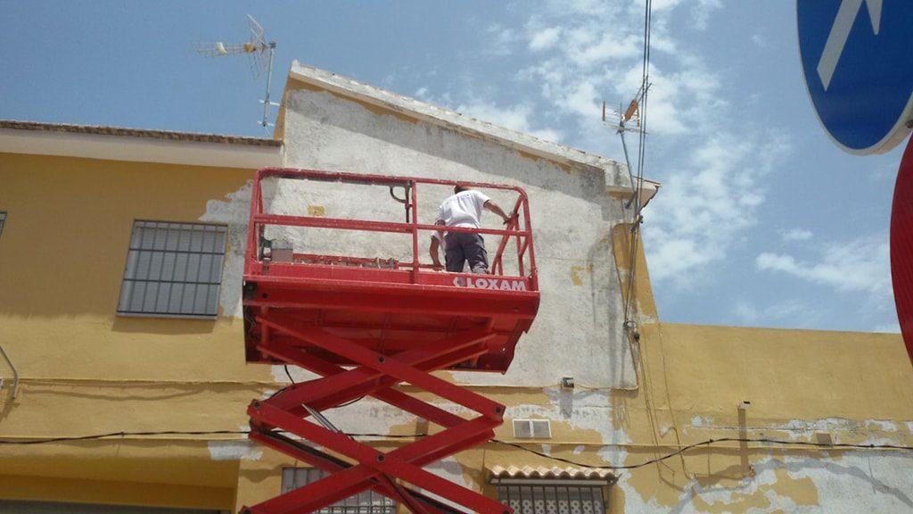 Pintar pared exterior Málaga