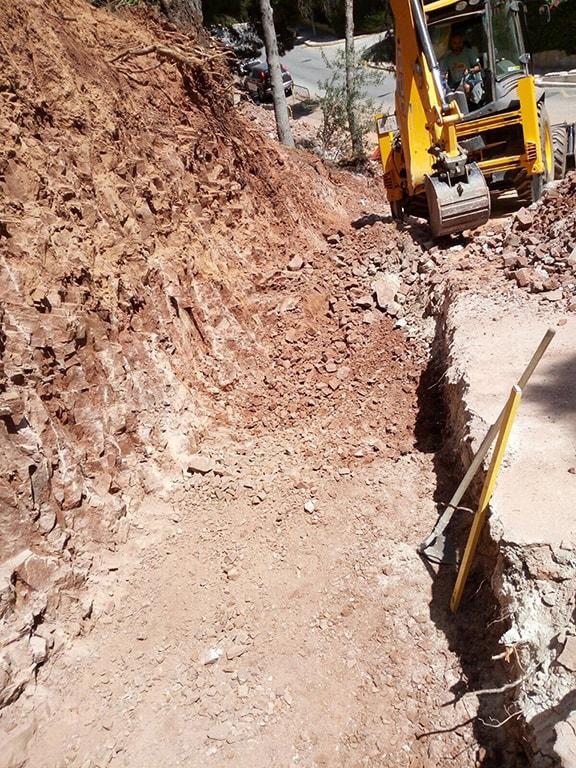 Reconstrucción muro Málaga
