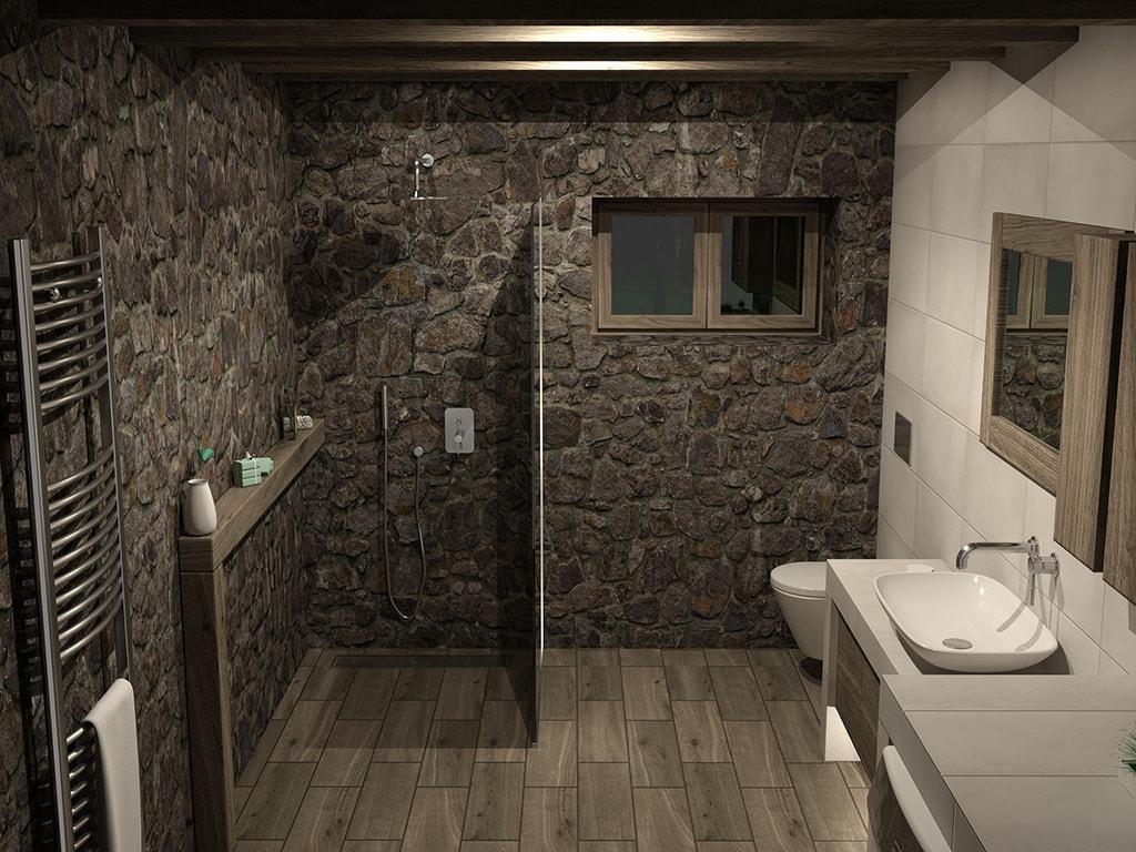 Revestimiento baños piedra